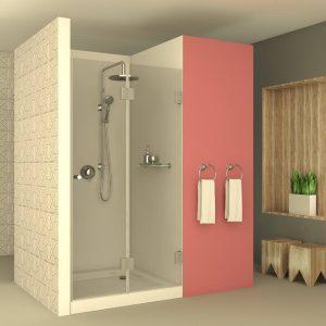ASAF מקלחון צירים חזית דלת מתקפלת