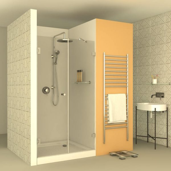 DENIS מקלחון צירים חזית קבוע ודלת